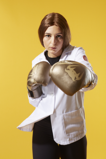 "Stephanie Azzopardi, MD-PhD student ""For stress relief, I engage in cardio kickboxing about five times a week. It's a fun, intense workout that has become a huge part of my lifestyle."