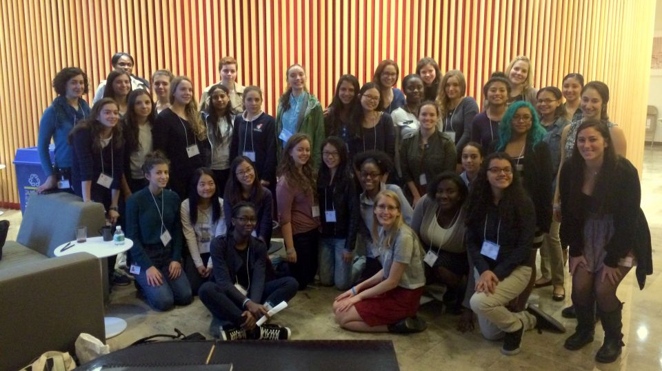 Young Women in Bio visit Weill Cornell