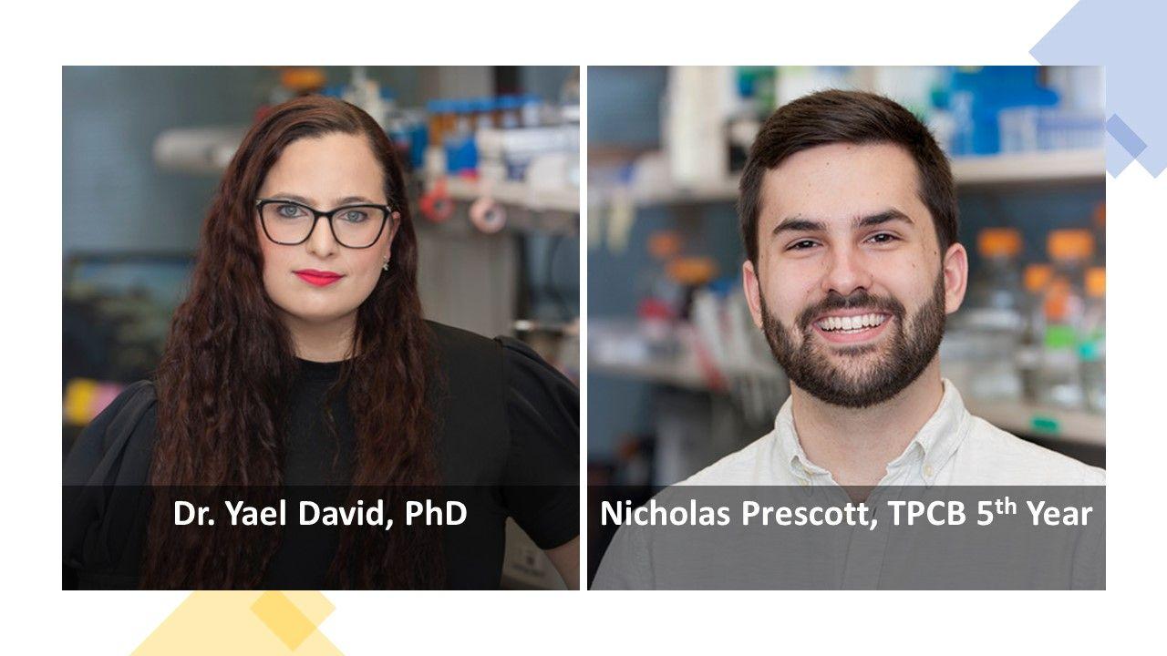 Dr. Yael David and Nicholas Prescott